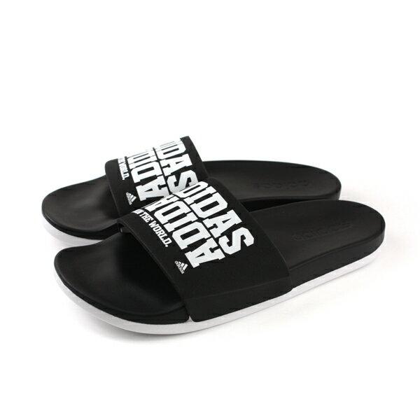 adidasadiletteCF+CAMPUSW拖鞋戶外黑色女鞋BY2615no568