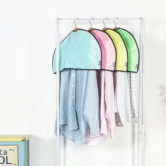 半包式衣服防塵罩 防塵套 防塵吊掛袋 衣服收納掛袋 衣櫥收納【SV6867】快樂生活網