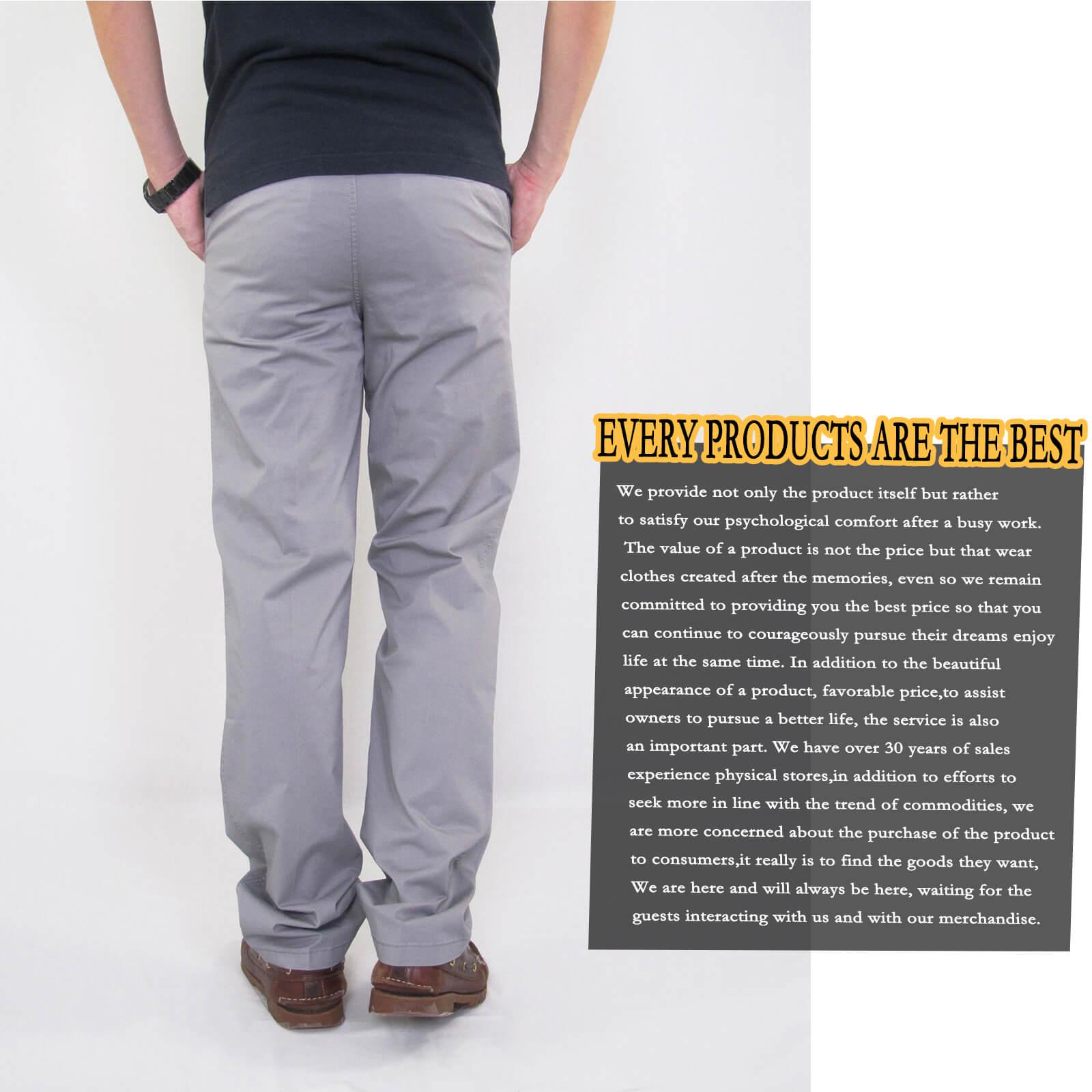 加大尺碼精梳棉平面休閒長褲 大尺寸顯瘦彈性長褲 時尚卡其長褲 PANTS (327-8106-01)銀灰色、(327-8106-02)卡其色 L XL 2L 3L 4L 5L (腰圍30~40英吋) [實體店面保障] sun-e 9