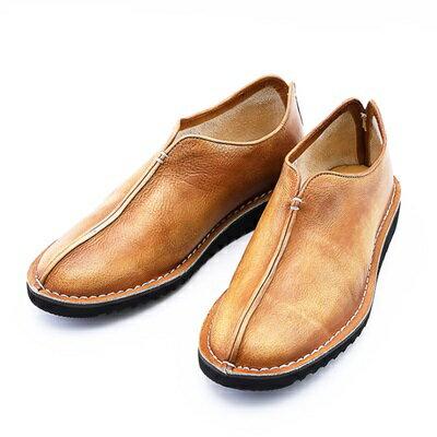 短靴真皮套腳靴子-復古做舊時尚懶人男靴3色73kk38【獨家進口】【米蘭精品】