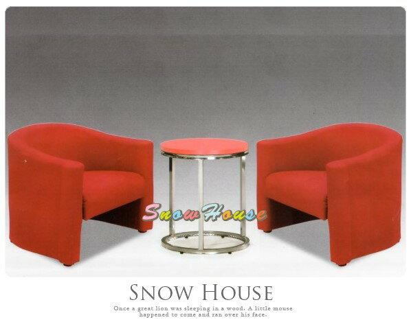 ╭☆雪之屋居家生活館☆╯AA333-02單人咖啡椅(紅色)(單只)休閒椅造型椅房間椅沙發矮凳皮沙發不含桌子