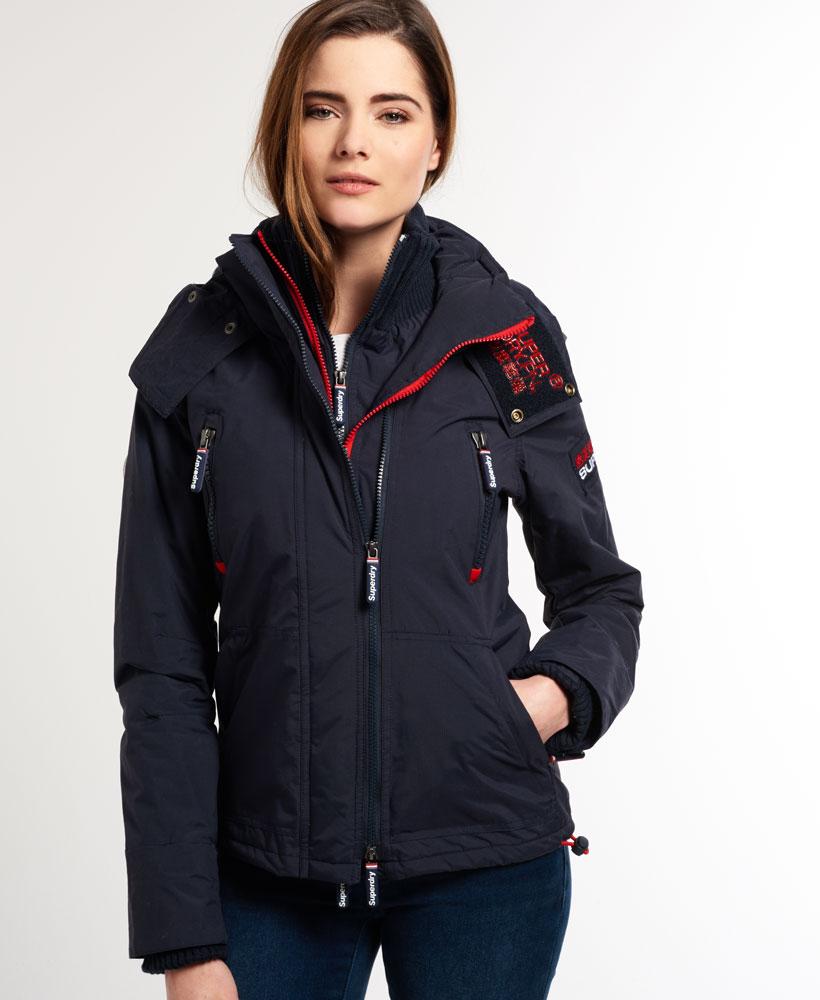 [女款] 極度乾燥 Superdry Wind Yachter 女款 風衣 連帽 防風 防水 外套 海軍藍/紅色 2