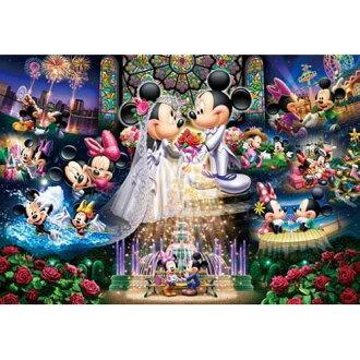 【進口拼圖】迪士尼 DISNEY-米奇米妮永恆的誓言 夜光拼圖 108片 D-108-742