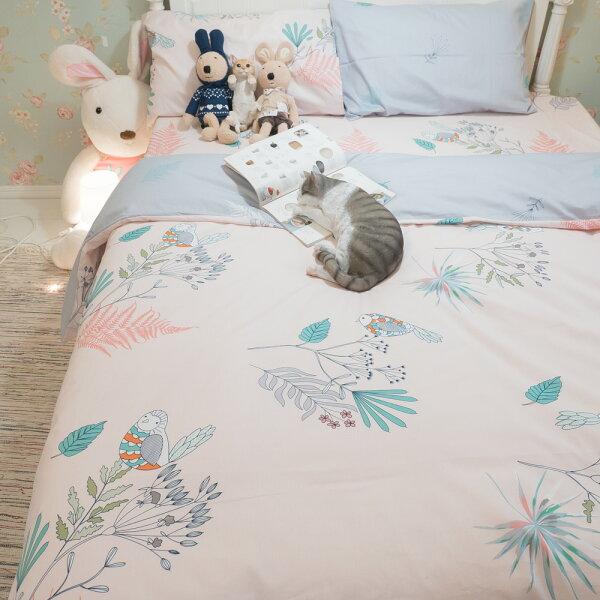 啾啾掰掰床包被套兩用被枕套單品賣場100%復古純棉台灣製
