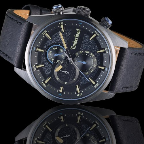 Timberland 天柏嵐 雙時區休閒皮帶錶(TBL.15953JSB / 02)46mm 1