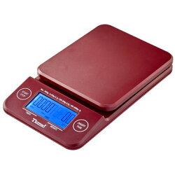金時代書香咖啡 Tiamo KS-900專業計時電子秤 2kg 藍光 紅色 HK0513R-1
