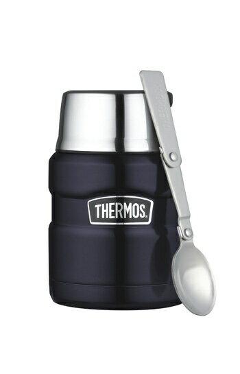 【安琪兒】日本【Thermos】高效能保溫食物罐-附匙(深藍) - 限時優惠好康折扣
