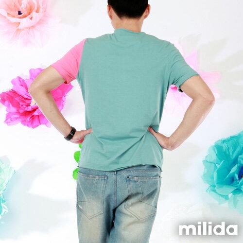 【Milida,全店七折免運】男生款-獨家設計情侶款T恤 6