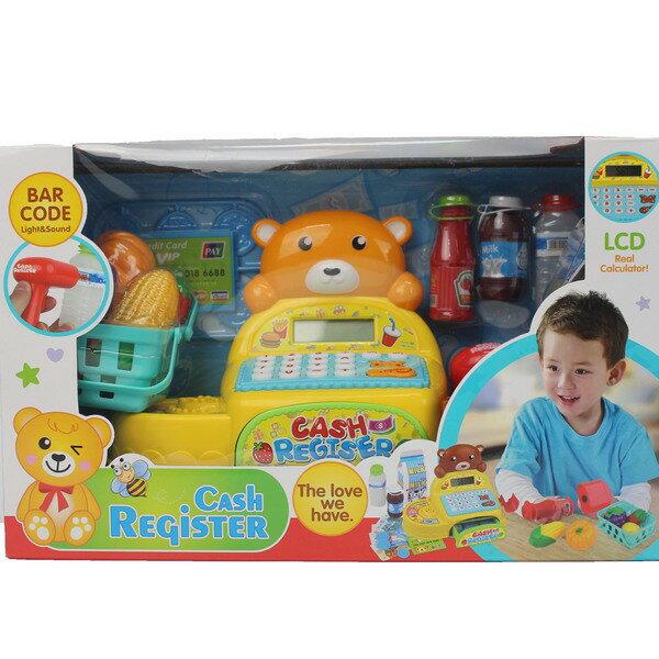 小熊計算收銀機 35561 大型電動收銀機玩具(附電池)/一盒入{促600}兒童超市收銀機玩具 收銀機遊戲 家家酒~CF130775
