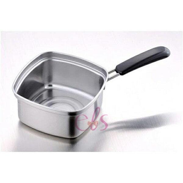 日本 下村企販 不鏽鋼 四角 方型湯鍋/泡麵鍋 15cm ☆艾莉莎ELS☆