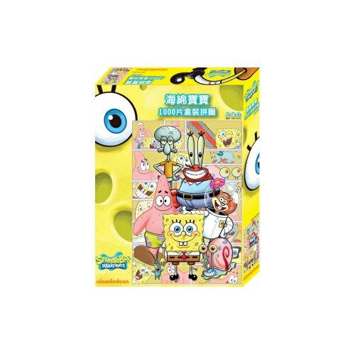 【卡通夢工場】海綿寶寶1000片盒裝拼圖B(開心篇) HB025B