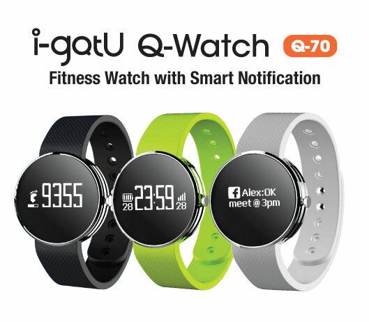 【福利品】 i-gotU Q-Band Q70 藍牙智慧手環