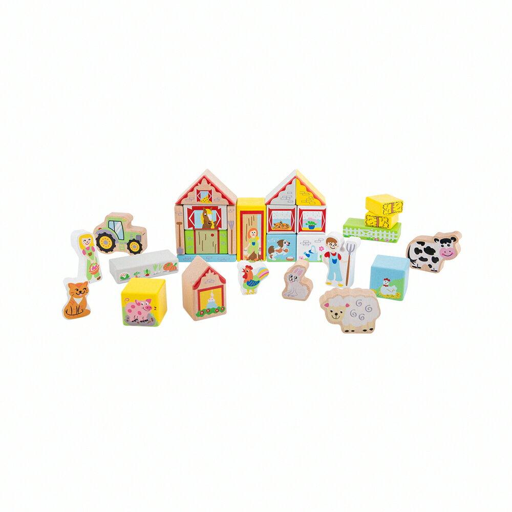 荷蘭木製積木農場疊疊樂玩具 (含配件28件) New Classic Toys