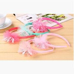 天使嫁衣【DX012】5色網紗蕾絲水鑽小皇冠女童髮箍˙預購訂製款