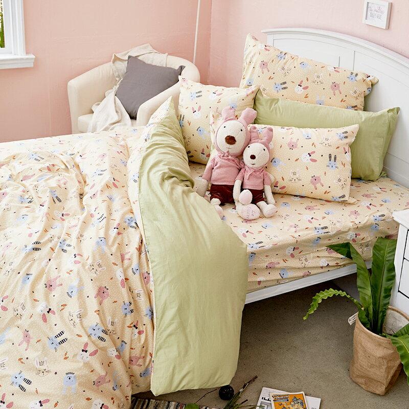床包  /  雙人-100%精梳棉【妮妮公主】含兩件枕套 戀家小舖 好窩生活節  台灣製 2