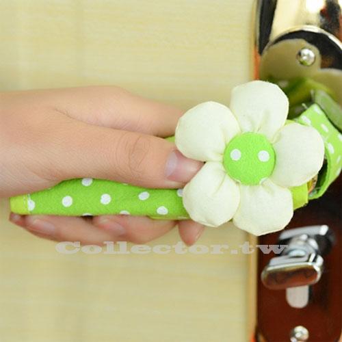 【F15120401】日式田園風波點花朵門把套 典雅溫馨拼布門把套