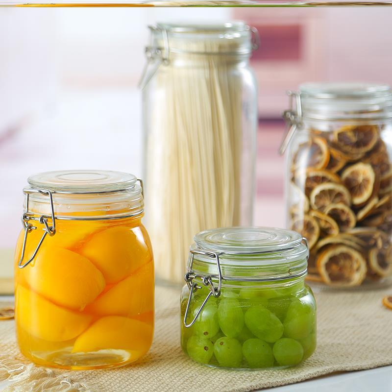 玻璃瓶子密封罐蜂蜜瓶子奶粉密封食品收納罐味精芝麻泡菜儲物罐1入
