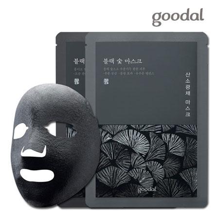 韓國 goodal 黑竹碳面膜系列  盒裝  竹碳 清潔 面膜 黑炭氧氣光彩面膜 黑炭碳酸