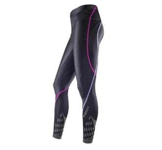 [陽光樂活] MIZUNO 美津濃 BIO GEAR BG8000 II (女) 機能壓縮緊身褲 K2MJ5D0197 黑x紫