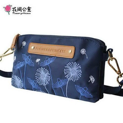 ~花間公主~Flower  Princess花與公主優雅刺繡雙袋小斜側包