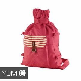 【美國Y.U.M.C. Melrose休閒系列Veshmeshok Rucksack帆布束口袋後背包 桃紅】電腦包/雙肩包 【風雅小舖】