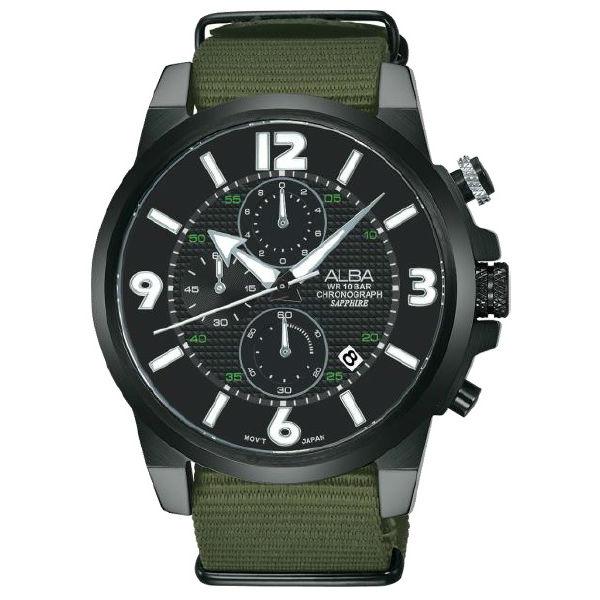 ALBAVD57-X089U(AM3401X1)時尚型男計帆布計時腕錶45mm