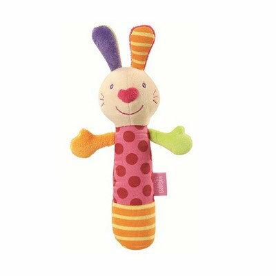 BabyFEHN芬恩 探險家棒型小兔布偶手搖鈴【六甲媽咪】