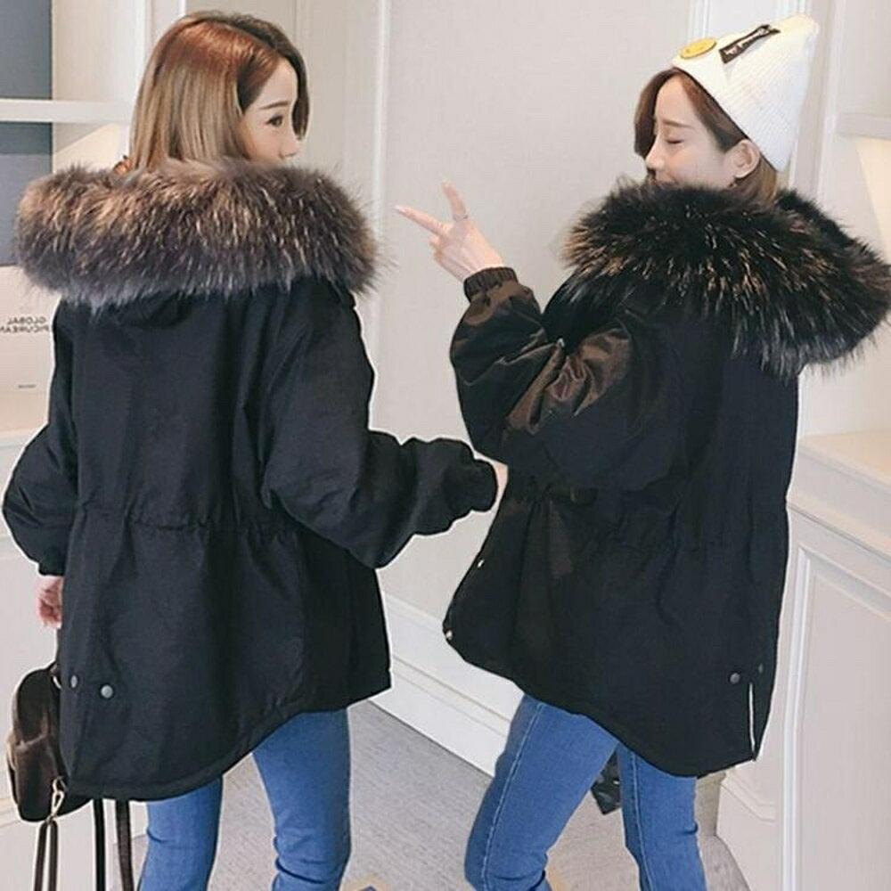 短版大衣 休閒百搭女學生韓版寬鬆棉服短款棉衣外套  都市時尚