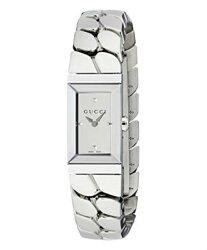 Gucci 古吉 YA147501  G-Frame銀色錶盤女士不銹鋼腕表/14*25mm