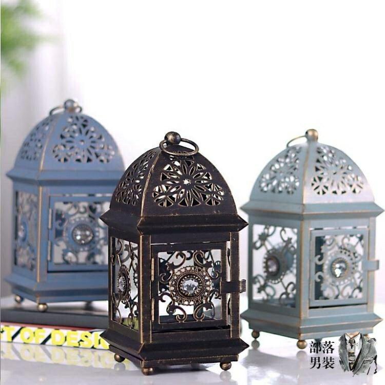 燭台擺件 歐式蠟燭台復古鐵藝家用裝飾燭台擺件北歐浪漫燭光晚餐道具