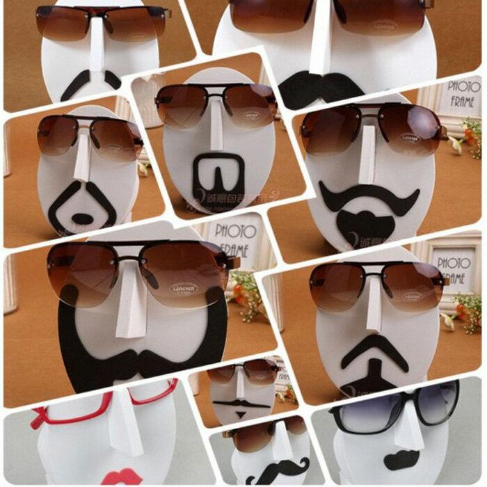 糖衣子輕鬆購【DS147】眼鏡收納 眼鏡展示架 ( 創意眼鏡架) 父親節 搞笑表情 眼鏡架 臉譜 鬍子 夢露 搞笑禮物