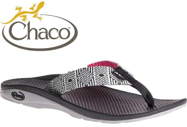 ├登山樂┤美國Chaco女戶外休閒涼鞋夾腳拖鞋-沙灘款脈衝黑#CH-ETW01HD52