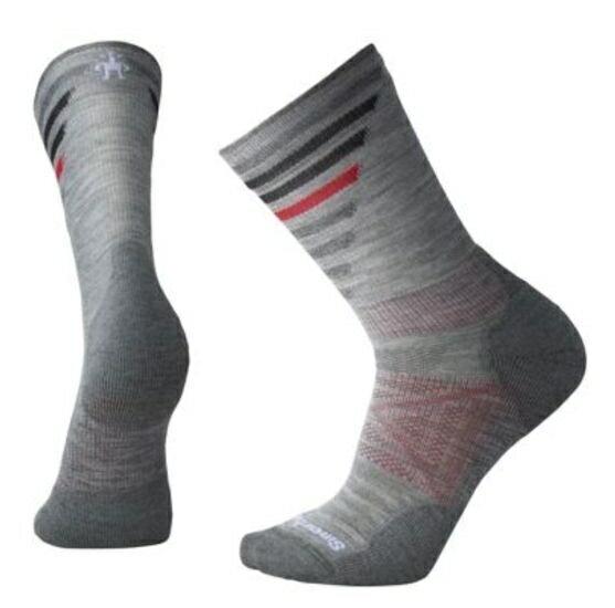 【【蘋果戶外】】Smartwool SW001208 039 淺灰 PhD 戶外輕量減震印花中長統筒襪 登山襪 美國製造 美麗諾羊毛襪 保暖