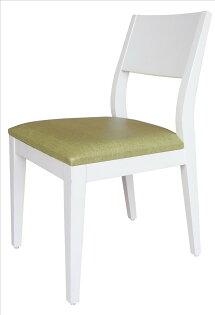 【石川家居】YE-A475-03喬伊白色餐椅(綠亞麻紋皮)(單張)(不含餐桌與其他商品)台北到高雄搭配車趟免運