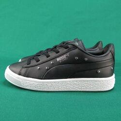 【iSport愛運動】PUMA BASKET STUDS PS愛心鉚釘鞋 運動鞋 正品 36967802 中童鞋 黑銀