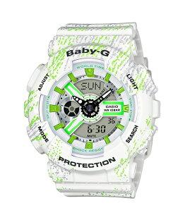 CASIOBABY-GBA-110TX-7A霧狀蠟筆紋雙顯流行腕錶43.4mm