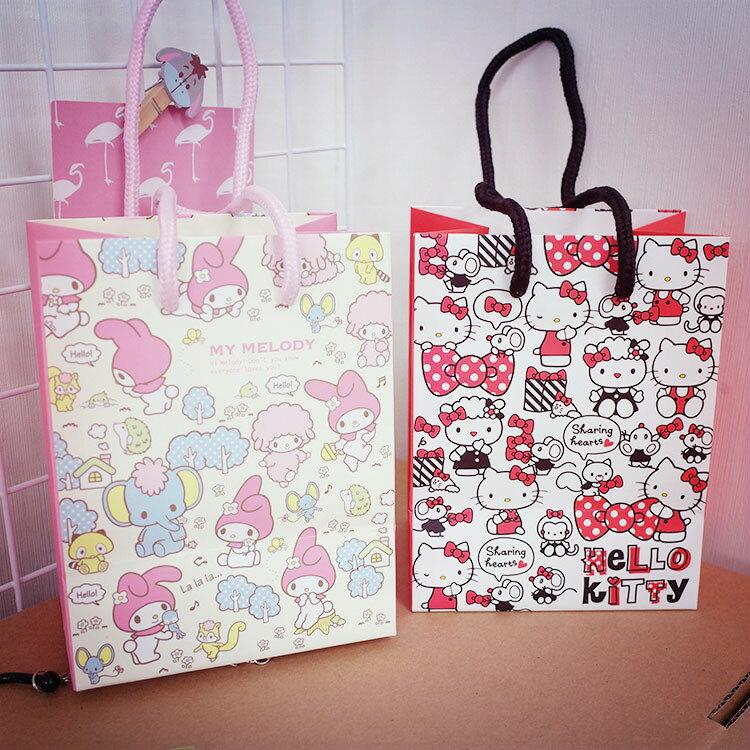 PGS7 三麗鷗系列商品 - 三麗鷗 小提紙袋 Kitty 凱蒂貓 Melody 美樂蒂 提袋 禮物袋【SHQ61207】