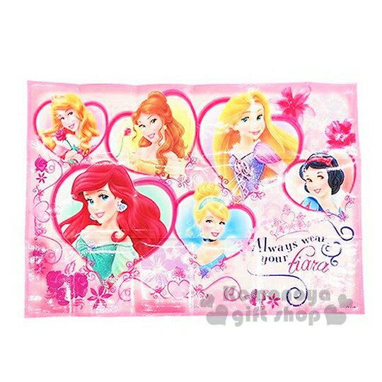 〔小禮堂〕迪士尼 公主 野餐墊《S.粉.多公主.花.90x60cm》單人用尺寸設計