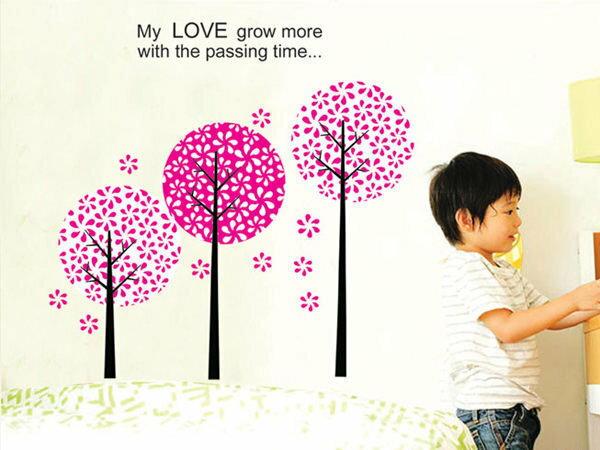 BO雜貨【YV2916】DIY時尚裝飾組合可移動壁貼 牆貼 壁貼 創意壁貼 背景貼 櫻花潘朵拉