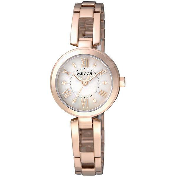 CITIZEN星辰WICCA^(BG3~929~11^)美麗佳人 腕錶 玫瑰金面24mm