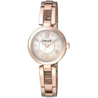 CITIZEN星辰WICCA(BG3-929-11)美麗佳人時尚腕錶/玫瑰金面24mm