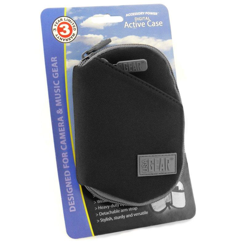 USA GEAR Small Multi-Purpose Travel Pouch with Zipper , Storage Pockets & Weather-Resistant Neoprene 4