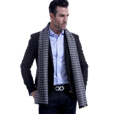 羊毛圍巾-英倫時尚幾何方格秋冬防寒男女披肩5色73ts7【獨家進口】【米蘭精品】