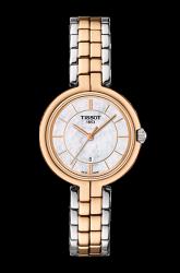 TISSOT 天梭  Flamingo 經典純粹石英女錶 珍珠貝 雙色版  T0942102211100 26mm