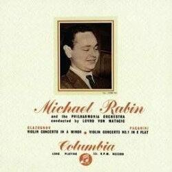 【停看聽音響唱片】【黑膠LP】葛拉祖諾夫 & 帕格尼尼小提琴協奏曲 / 麥可.拉賓