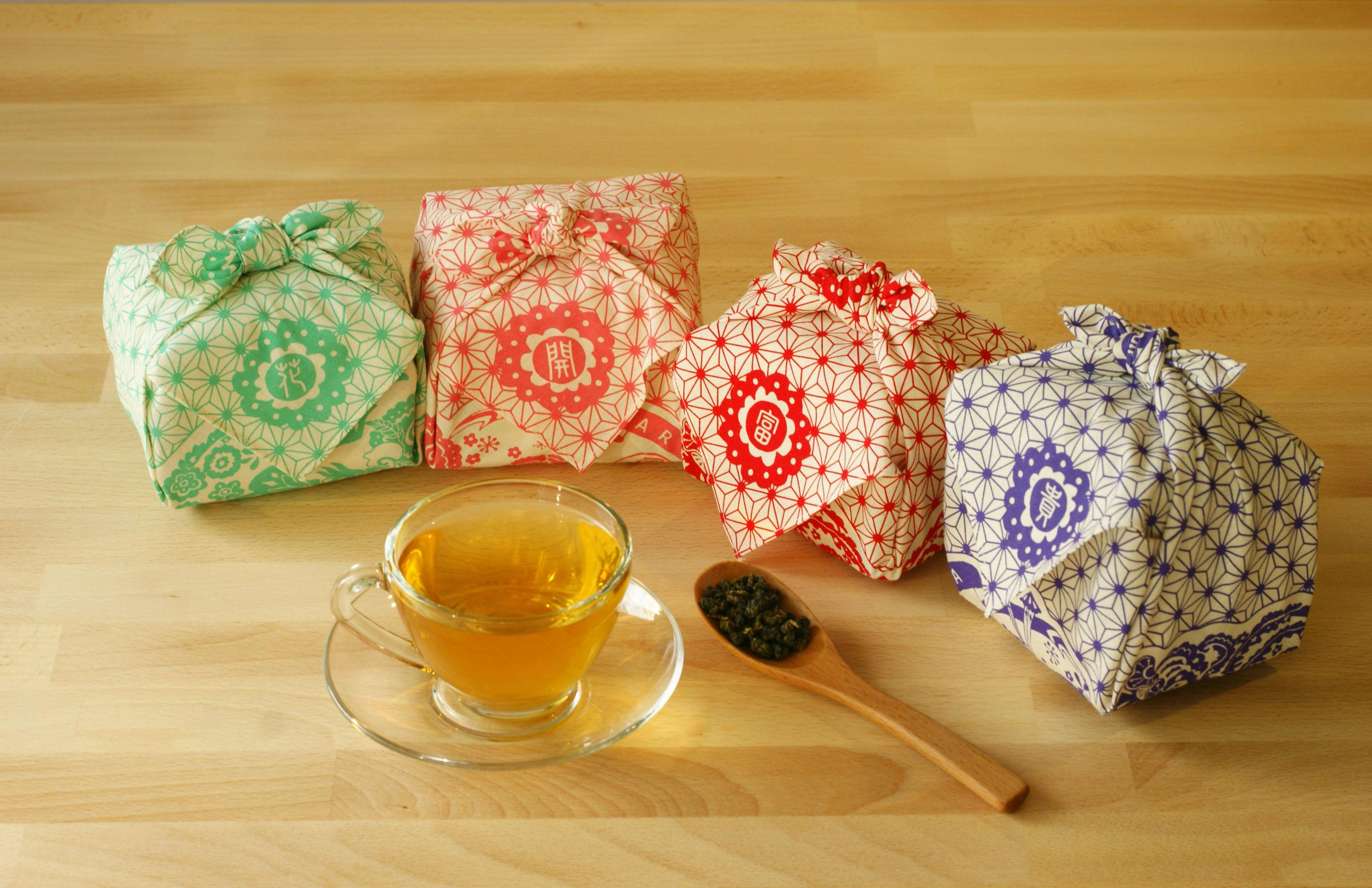 ARTEA【花開富貴】台灣茶包裹巾組合(手採手製茶X4包裹)ARTEA 千合趣 1