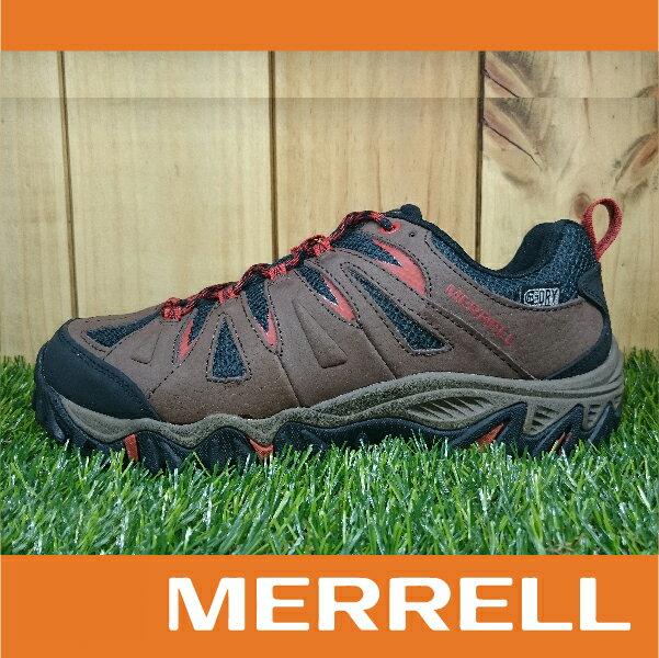 【零碼75折】MERRELL MOJAVE WATERPROOF防水 男款低筒登山健行鞋 抓地大底 咖啡色 萬特戶外運動