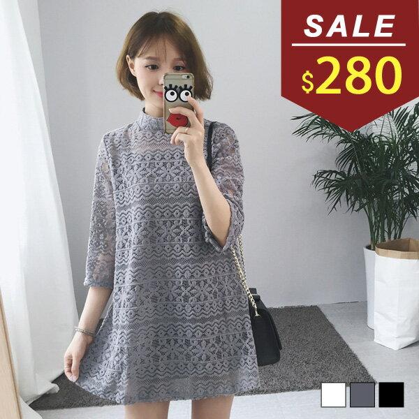 洋裝 兩件式氣質蕾絲七分袖洋裝 小豬兒 MiNi Jule 【YCA71052680】