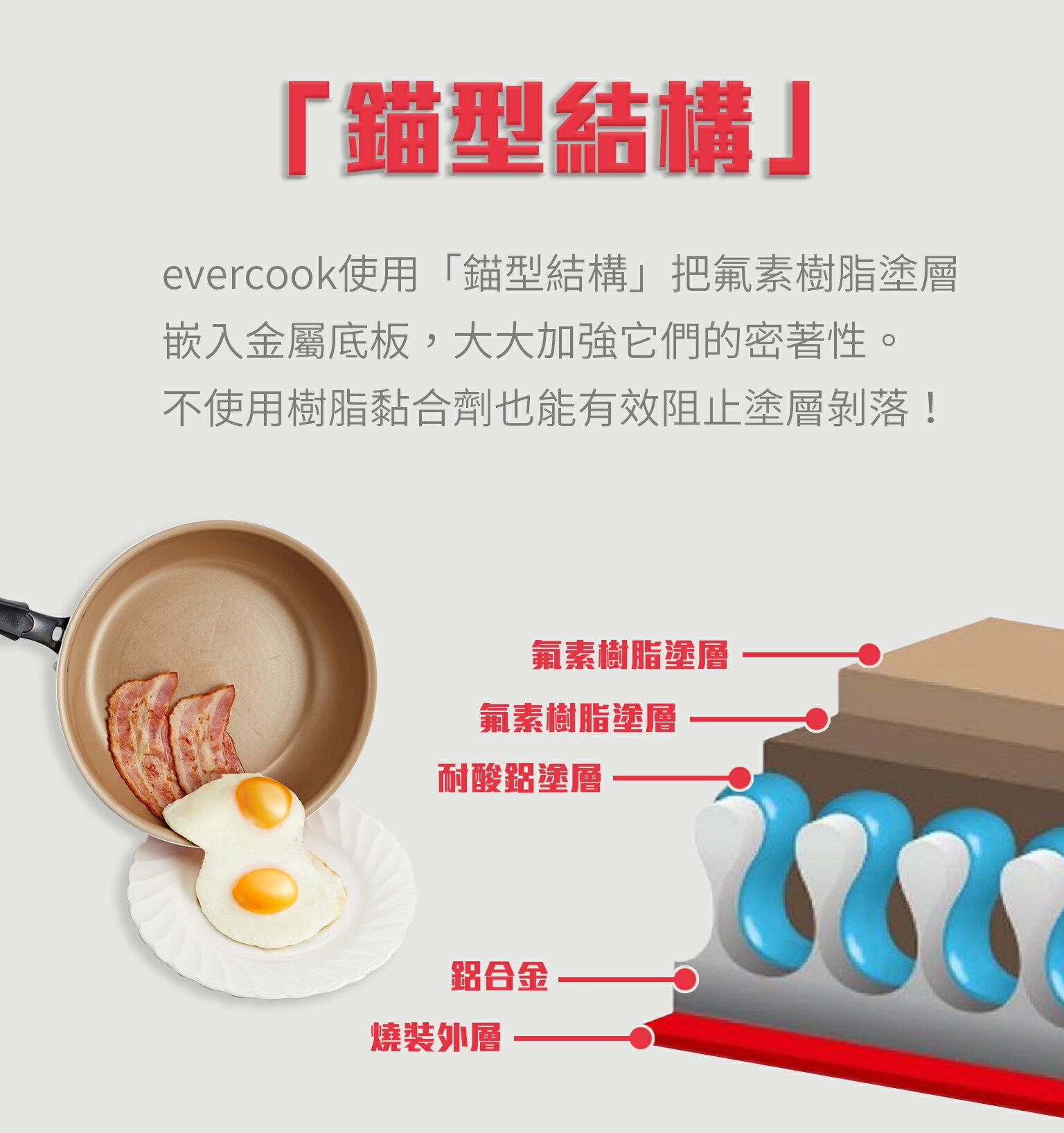 【日本Doshisha evercook】三件組-炒鍋 26cm+炒鍋 28cm+玉子燒-15*18cm 4