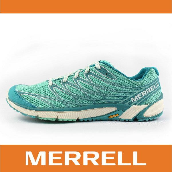 【MERRELL】BARE ACCESS 4 35844 女越野訓練跑鞋 赤足鞋 慢跑 抗菌 防臭 湖水綠色 萬特戶外運動